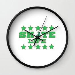 Lovely Gift Ice Skating Tshirt Design Skate life Wall Clock