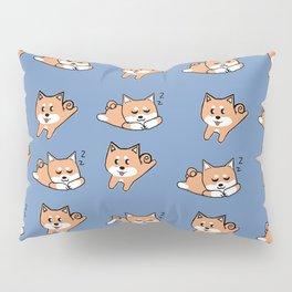 Cool Blue Shiba Pattern Pillow Sham
