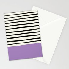 Lavender x Stripes Stationery Cards