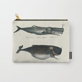Whale Illustration - Ocean Decor Carry-All Pouch