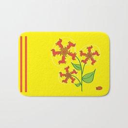 Doxie Flower Bath Mat