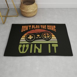 Don't Play The Game Win It - Vintage Gamer Gift Rug