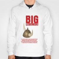 big lebowski Hoodies featuring BIG LEBOWSKI by FunnyFaceArt