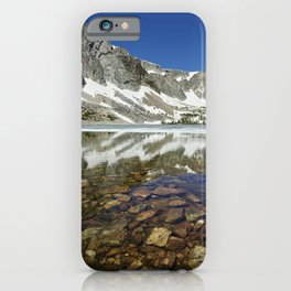 View of Lake Marie in Wyomings Snowy Range between Saratoga and Laramie iPhone Case