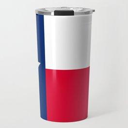 Texas State Flag Patriotic Design Travel Mug