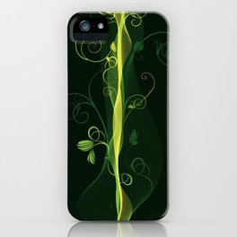 Glowing Vines iPhone Case