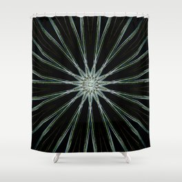 Silver Angel Star Shower Curtain