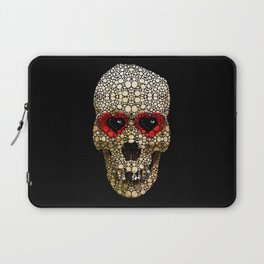 Skull Art - Day Of The Dead 3 Stone Rock'd Laptop Sleeve