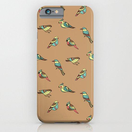 doodle birds - brown iPhone & iPod Case