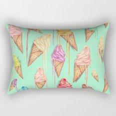 melted ice creams Rectangular Pillow