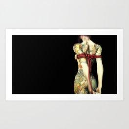 The tattoo girl & the rope Art Print