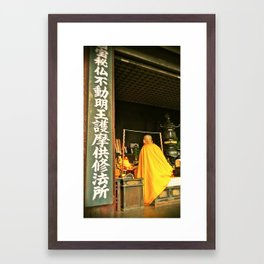 Monk Framed Art Print