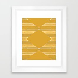 Geo / Yellow Framed Art Print
