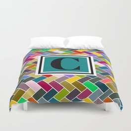 C Monogram Duvet Cover