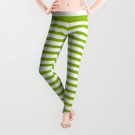 Apple Green & White Maritime Small Stripes- Mix & Match with Simplicity of Life Leggings