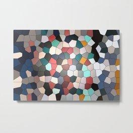 Colorful Mosaik Pattern Design Metal Print