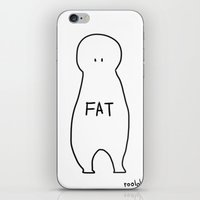fat iPhone & iPod Skins featuring fat by roololoo