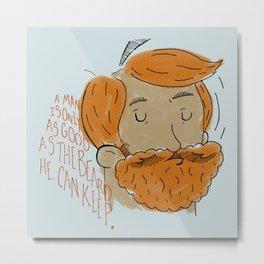 Beard Pride Metal Print