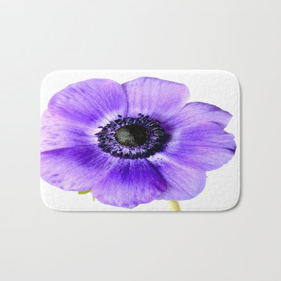 Pretty Purple Flower  Bath Mat