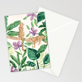Leopards in the Jungle Stationery Cards