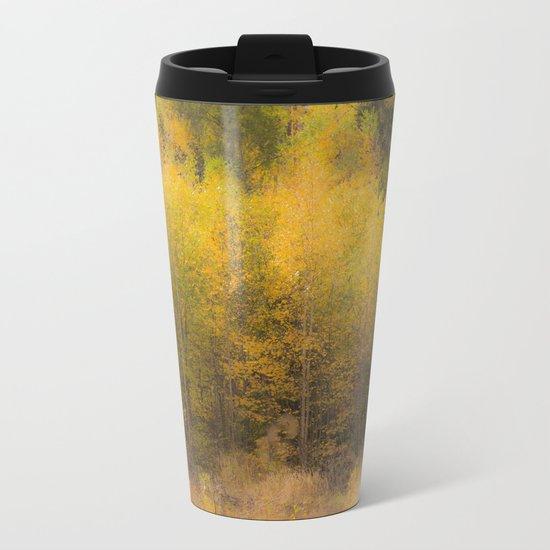 Fall color forest Metal Travel Mug