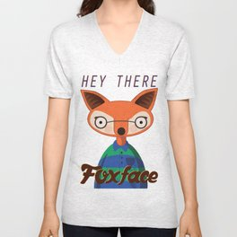 Hey there Foxface Unisex V-Neck