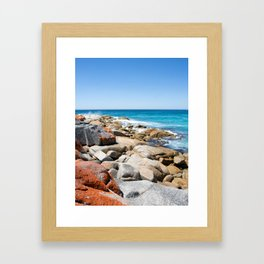 Bay of Fires Framed Art Print