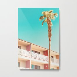 Palm Tree at the Saguaro Palm Springs Photography Print Metal Print