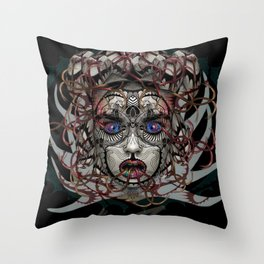 Google Medusa Throw Pillow