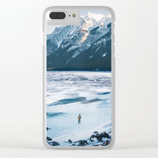 Winter at Lake Minnewanka Clear iPhone Case