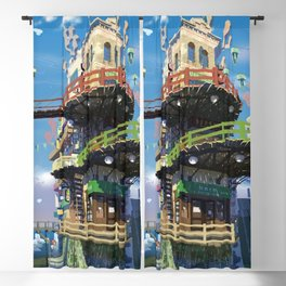 Pretty Urban Buildings And Infrastructure Ultra HD Blackout Curtain