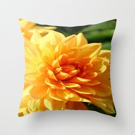 Dahlia Macro Throw Pillow