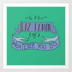Liz Lemon Art Print