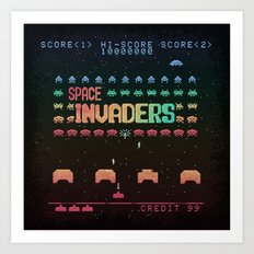 Invader Space Art Print