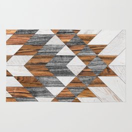 Urban Tribal Pattern 12 - Aztec - Wood Rug