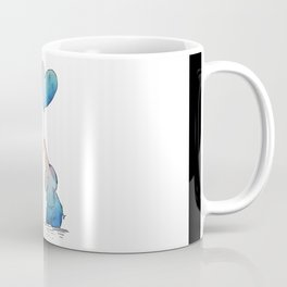 Colorful Watercolor Elephants Love Coffee Mug