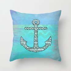 Tribal Anchor Throw Pillow