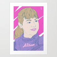 orphan black Art Prints featuring Alison - Orphan Black by Silfredo Nuñez