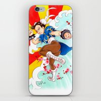 street fighter iPhone & iPod Skins featuring Chunli Street Fighter by Aimee Steinberger