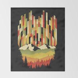 Sunset in Vertical Throw Blanket