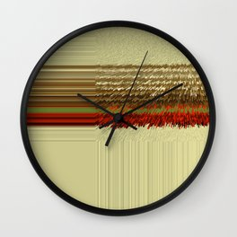 FRINGES ON CANVAS Wall Clock