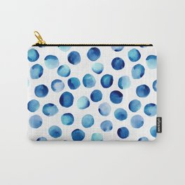 Watercolor Dots // Royal Blue Carry-All Pouch