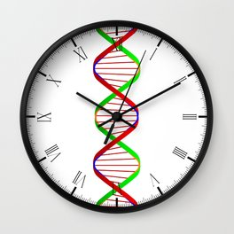 DNA Twin Spiral Wall Clock