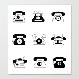 Fifties' Smartphones Canvas Print