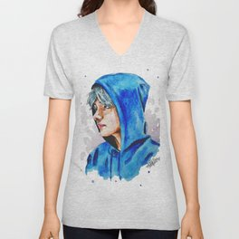 Taehyung watercolor BTS Unisex V-Neck