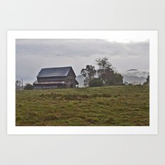 Old Mountain Barn Near Helen Georgia Art Print