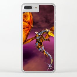 Dragon Rider C Clear iPhone Case