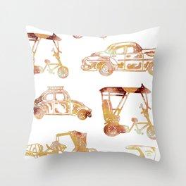 Cuban Transport Art Print Throw Pillow
