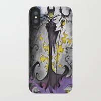maleficent iPhone & iPod Cases featuring Maleficent  by Jena Sinclair