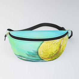 Tennis Ball On Court Reflection. For Tennis Lovers Fanny Pack